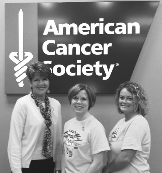 Clark County volunteers who recently attended the American Cancer Society¿s Relay for Life Summit in Nashville included, from left, Melanie Gabbard, Sarah Chamberlain and Robin Jefferson.