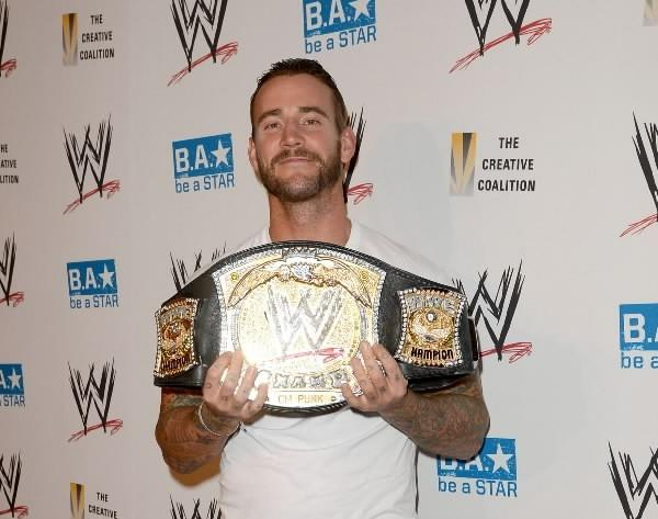 WWE Superstar CM Punk attends the WWE SummerSlam VIP Kick-Off Party at Beverly Hills Hotel on August 16, 2012 in Beverly Hills, Calif.