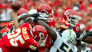 The Kansas City Chiefs, the Ravens' opponent this Sunday, boast the top-ranked run offense in the NFL. But the very foundation of that ground attack could also be their area of vulnerability.