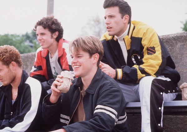 "After moving to Cambridge, Mass., Affleck met Matt Damon.  Years later in ""Good Will Hunting"" (pictured) the two brought their friendship to the big screen."