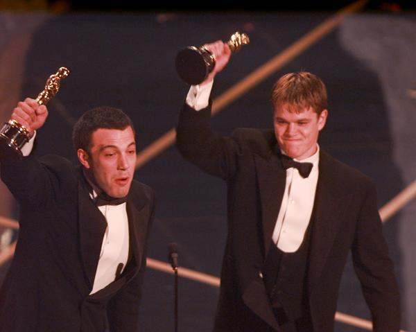 "Affleck teamed up with his childhood buddy Damon to write a screenplay. With a bit of input from Hollywood heavies like Rob Reiner and William Goldman, the script got a makeover and eventually became ""Good Will Hunting."" Both Damon and Affleck scored Oscars for best original screenplay."