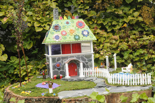 Justine Lavigne and Chris Blackshaw's Button Up Cottage at the Florence Griswold Museum, part of the Wee Faerie exhibit.