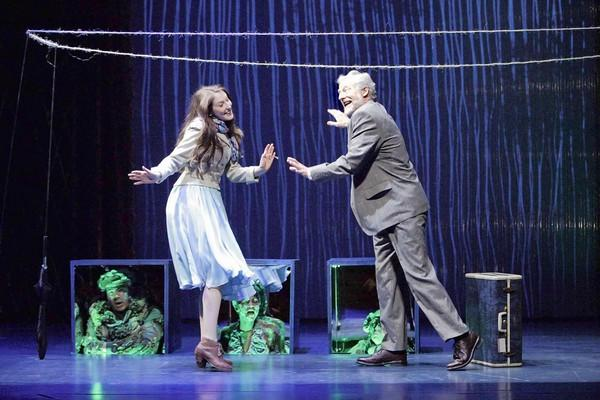 "Carmela Corbett and Timothy Landfield in ""Eurydice"" at South Coast Repertory."