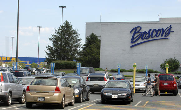 shoppers from around region flock back to boscov s