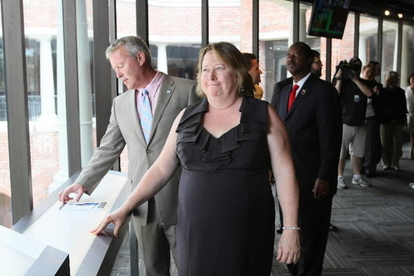 Mad Cow Theatre will open its new theater complex on Church Street on Saturday, Oct. 6. After a ribbon-cutting ceremony on Oct. 2, Mad Cow Theatre executive director Mitzi Maxwell and Orlando Mayor Buddy Dyer check out the new venue.