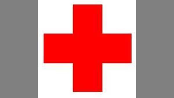 A red cross, the sign for first aid