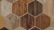 Wood tile, a warm and organic look