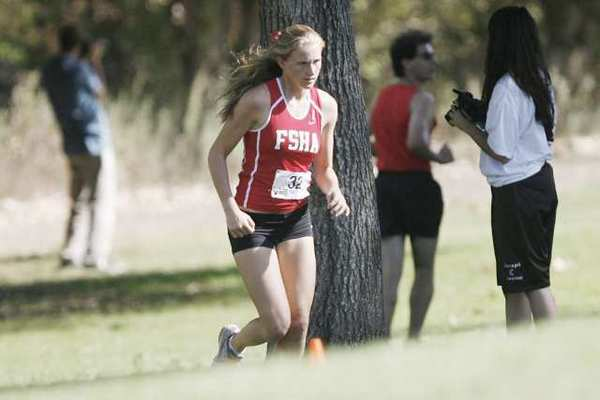 Maddie Peterson was Flintridge Sacred Heart Academy's top finisher at the second Mission League cross-country meet of the year.
