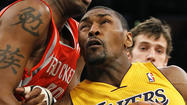 His newly prominent cheekbones, sharply chiseled in a slender face, are the most obvious indication that Metta World Peace has become much lighter of body. His diligence during the Lakers' first training-camp workouts testifies to his lightness of mind and his commitment to being a valued role player on a potential championship team.