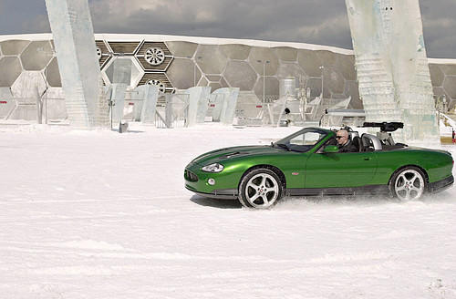 """<p>In """"Die Another Day,"""" terrorist Tang Ling Zao, played by Rick Yune, drives this Jaguar XKR.</p>"""