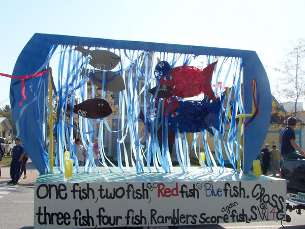 Dr. Seuss and a play-on-words inspired the class of 2014's creative float in the Boyne City homecoming parade Thursday.