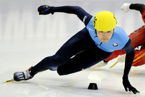 U.S. speedskater Simon Cho