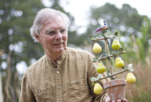 Floral designer Don Haynie will demonstrate how to make a Partridge in a Pear Tree topiary during Colonial Williamsburg's Holiday Symposium Nov. 11-12. Participants will make one to take home, too.