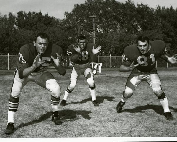 Northern players (from left) Ron Kaaz, Joe Hoff and Bob Luce show their moves in 1969.