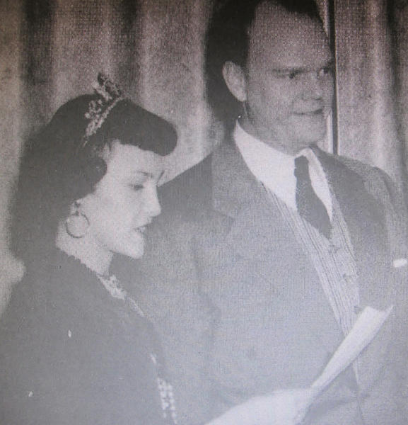 Northern took the opportunity to make radio legend Paul Harvey the honorary Gypsy Day marshal when he came to speak at an Aberdeen Chamber of Commerce function in 1955. HArvey is shown with 1954 Gypsy queen Marlene Lux at the 1955 coronation ceremony.