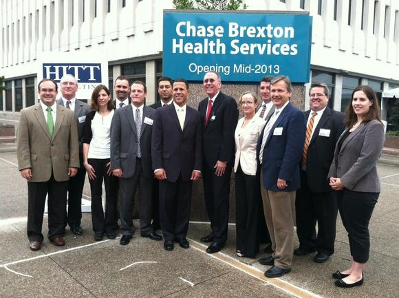 Lt. Governor Anthony  Brown joins staff from Chase Brexton Health Services as they break ground on a new building
