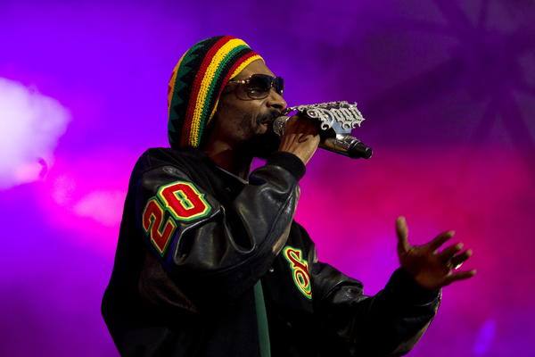 Snoop Dogg performs at a concert in Norway in June.