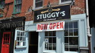 Starting Friday, Stuggy's delivers. Operating under the name Willow Presents Stuggy's Delivers, the Fells Point hot dog shop will deliver to addresses in Fells Point and Harbor East, from 6 p.m. until 3 a.m.