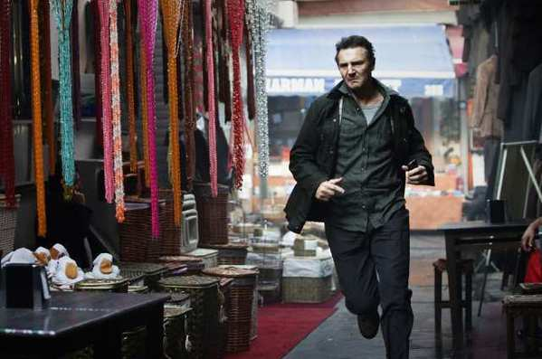 "Liam Neeson chases down more bad guys in ""Taken 2."""