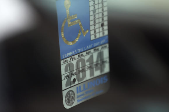 Disabled-parking placard