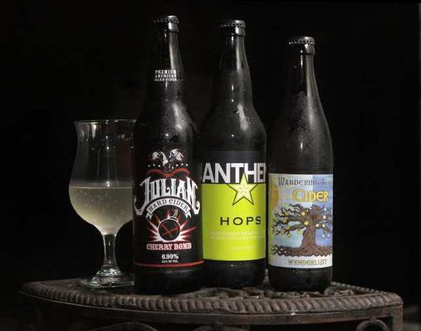 Ciders available at 1642 include the San Diego County-made Julian and two bottlings from Oregon's Wandering Aengus.