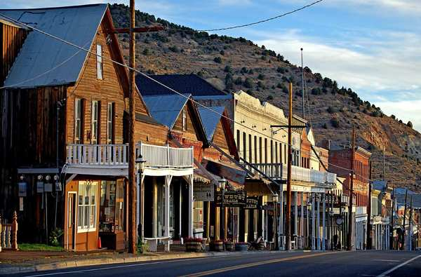 C Street is the main drag through Virginia City, and it still has the wooden sidewalks that Samuel Clemens (a.k.a. Mark Twain) would have stepped on when he lived and worked here in the late 1800s.