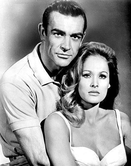 Pictures: 50 years of James Bond movies: Dr. No (1962) The movie that launched a thousand others -- well, not really but it did launch a huge franchise. Yes, thats Ursula Andress in her infamous bikini.
