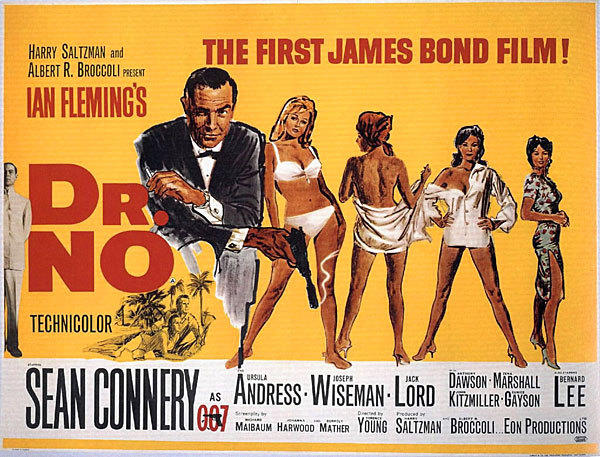 Pictures: 50 years of James Bond movies: Dr. No (1962) A poster from the film.