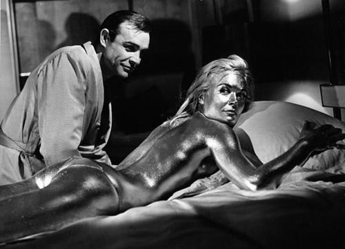 Goldfinger (1964) You gotta admit, he's got that Midas touch with the ladies. That's Shirley Eaton by the way, painted in gold.