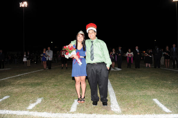 Amy Kao, left, and Miguel Zapata were named the 2012 Homecoming King and Queen at George Rogers Clark High School Friday evening. The GRC Cardinals played Lexington's Lafayette High School.