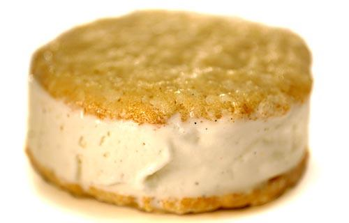 Coconut ice cream sandwich