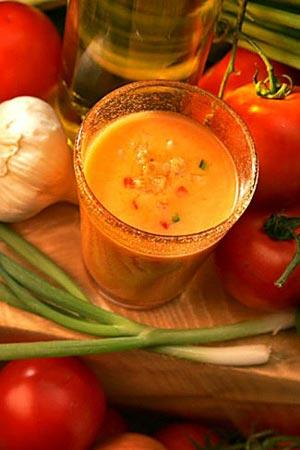 Serve Andalusia garden gazpacho as a light meal or an afternoon pick-me-up.