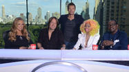 The producers of <em>American Idol</em> aren't going so far as to say this season's judging panel is one big happy family.