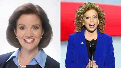 Karen Harrington, left, and Debbie Wasserman Schultz are running for the same congressional seat.