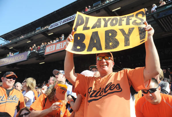 David Gibson of Brooklyn Park cheers on the Orioles as they play the Boston Red Sox on Sept. 30 at Oriole Park at Camden Yards.