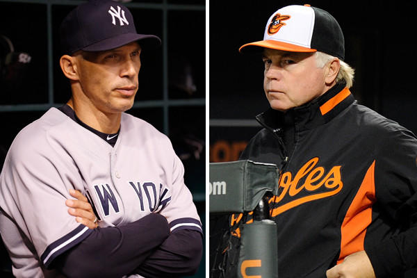 <b>Yankees: </b> Joe Girardi, who turned down the Orioles job in 2007 while Dave Trembley was interim manager, obviously has an annual challenge in the New York fishbowl. His team won the World Series in 2009, his second year with the club. They've been competitive since but have not won another American League pennant and that's the measuring stick for Yankee managers. With another AL East title, he should have security.<br>