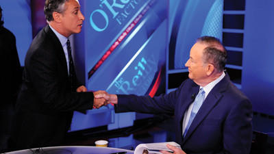 Oreilly, Stewart in mock debate