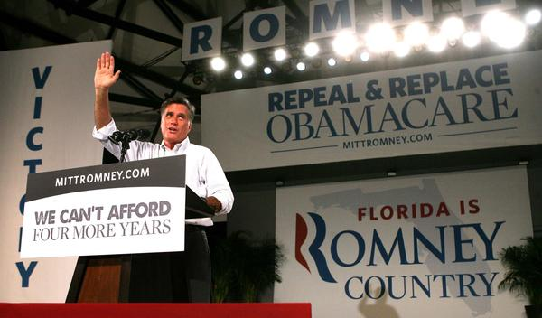 Scenes from the rally with Republican presidential nominee Mitt Romney and wife Ann, in Apopka, Fla., Saturday night, October 6,  2012. Romney is on a three-day tour of Florida.