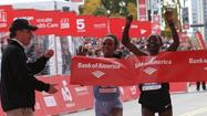 Rita Jeptoo raised her arms in celebration as she crossed the finish line of the Chicago Marathon, yet the Kenyan said she knew she had been edged by a woman she repeatedly called her friend.