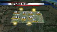 "<span style=""font-size: small;"">Sunshine will make it feel a little warmer today, even though our highs will only be in the 50s.</span>"