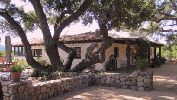 Mature oaks surround the Ojai home that actor Malcolm McDowell and his wife, Kelley, a home designer, have listed.