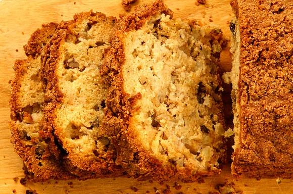 Dutch apple walnut loaf