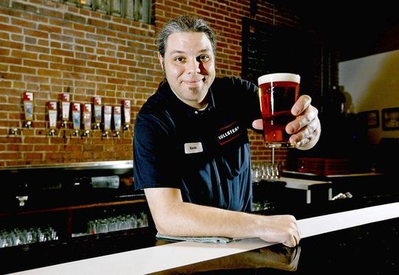 Kevin Slater is the bartender at Fullsteam Brewery in Durham, North Carolina.