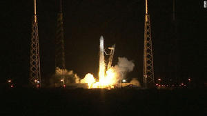 First commercial cargo flight heading to International Space Station