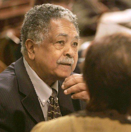 Veteran California lawmaker Mervyn Dymally is shown in the Assembly in 2006.