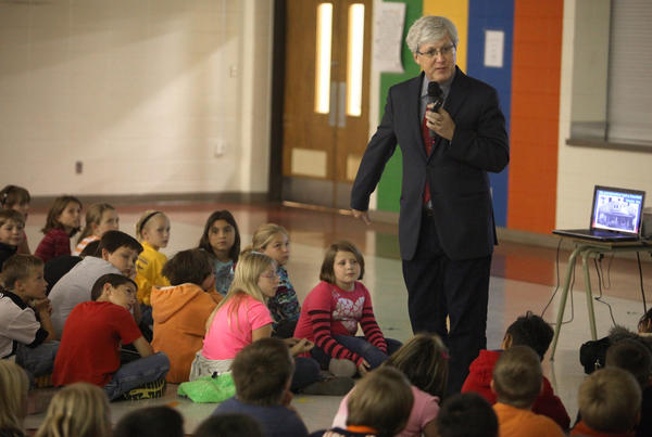 Author speaks at elementary school
