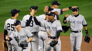 The Yankees clubhouse was subdued and businesslike after Sunday's dramatic, 7-2, Game 1 ALDS victory, not surprising considering how many big games most of the players have experienced.
