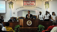 Pastor Mark Q. Anderson of the Second Baptist Church
