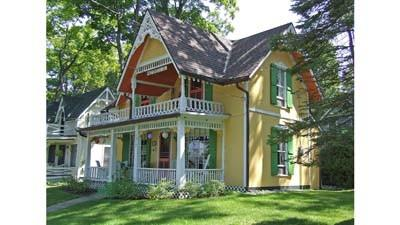 This cottage is one of many at the Bay View Association with painted exteriors.