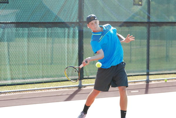 Petoskey senior Zach Phillips was the No. 1 singles flight winner Saturday at the Portage Invitational. The Northmen finished tied for third in the eight-team tournament.